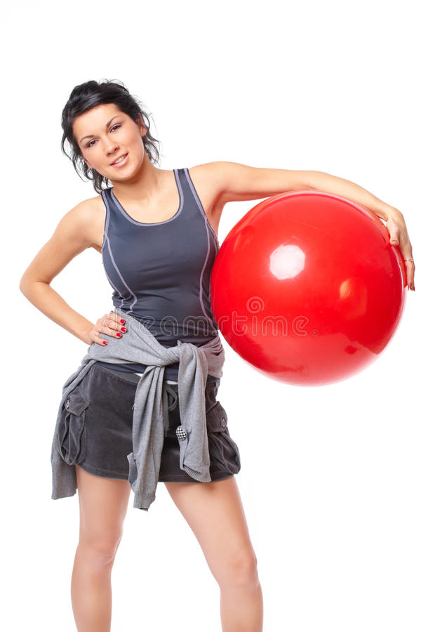 Download Woman With Gym Ball Stock Photography - Image: 22091162