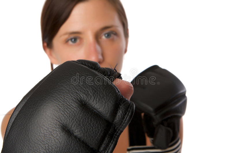 Download Woman In Gym Clothes, With Boxing Gloves, Strength Stock Photography - Image: 5282412