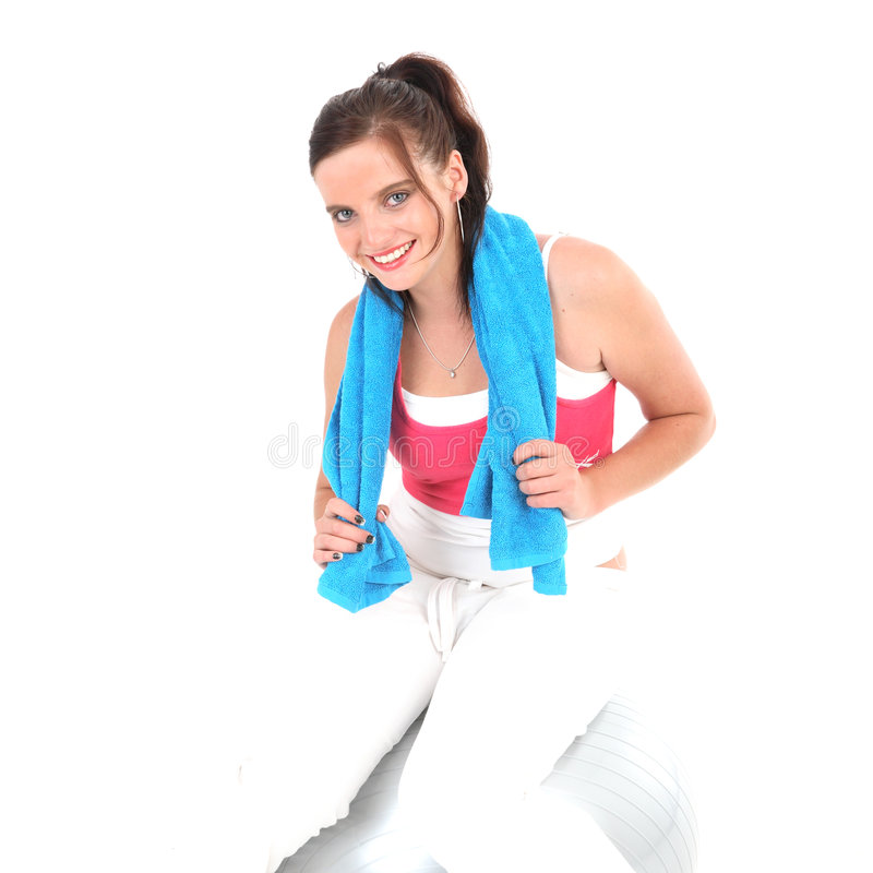 Download Woman In Gym Outfit Exercising Stock Image - Image: 5357965