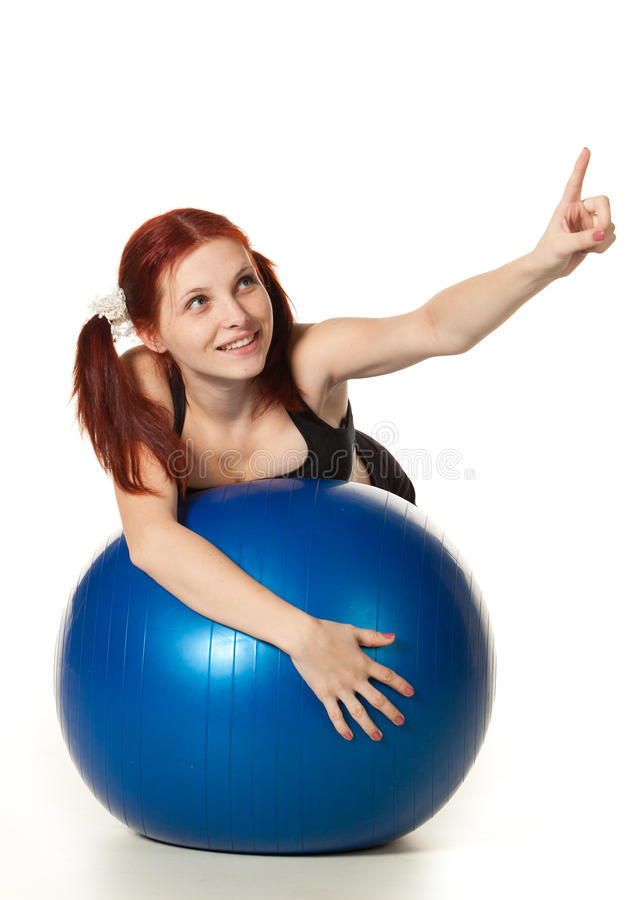 Download Woman with gymnastic ball stock photo. Image of beauty - 22758044