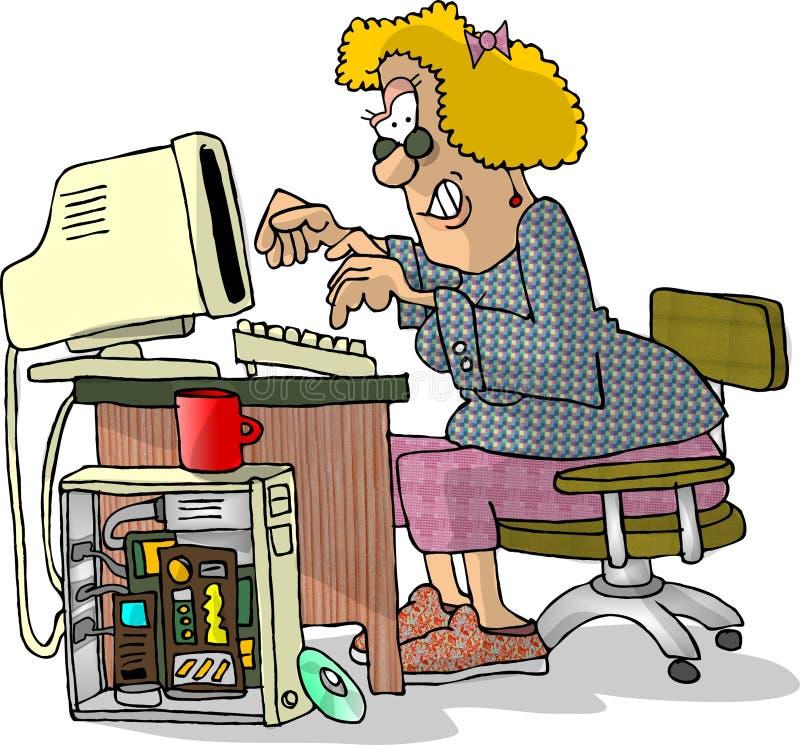 Woman hacker royalty free illustration