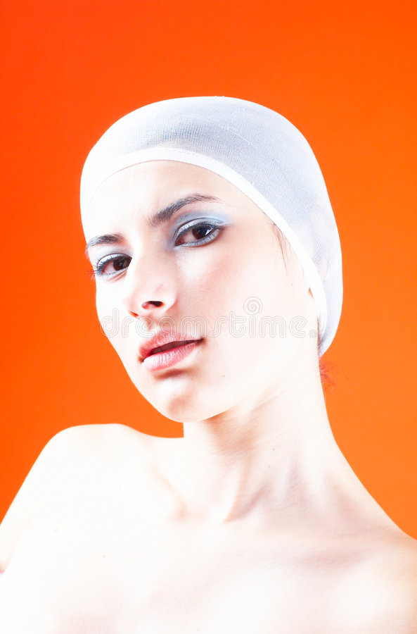 Woman With Hair Covered - 2
