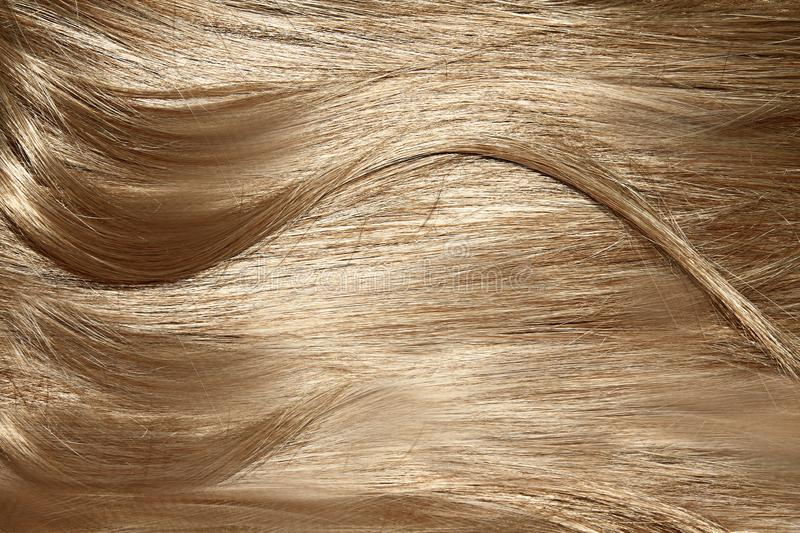 Woman hair styling. Image of woman hair styling with blond hair stock photo