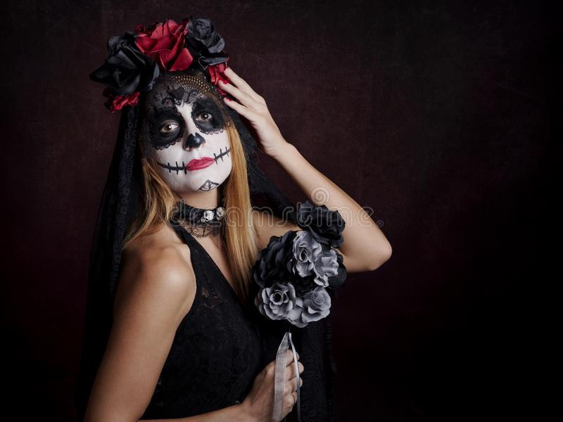 Woman on halloween royalty free stock photo