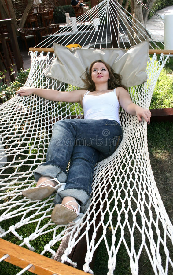 Download Woman on hammock stock photo. Image of sensitive, eyes - 12660402