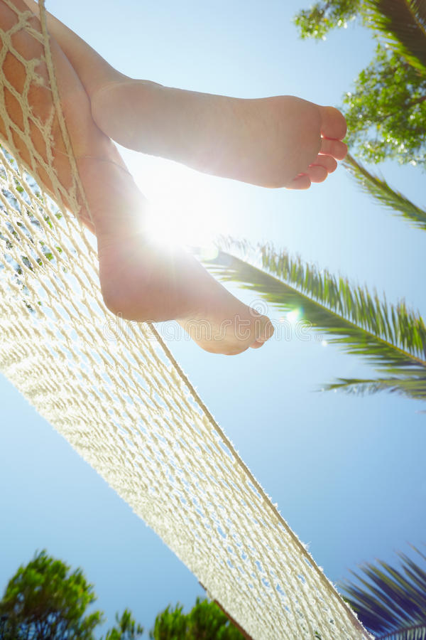 Download Woman on hammock stock image. Image of sunbeam, resting - 15797121