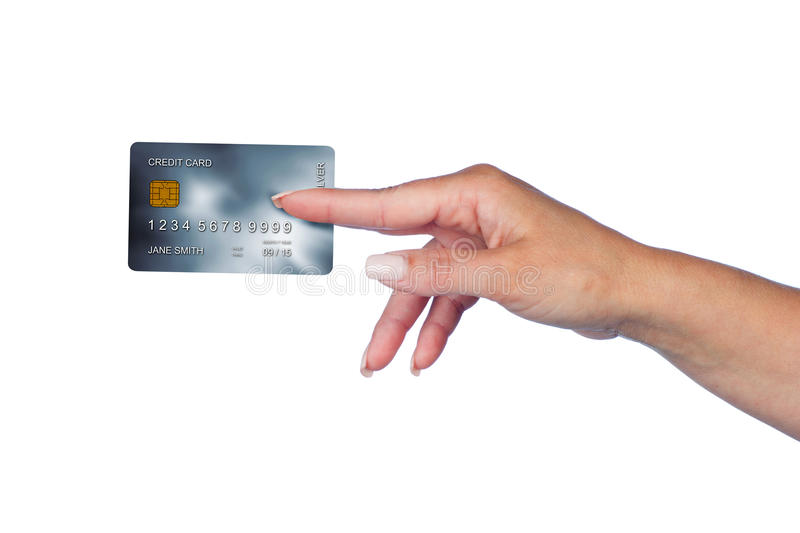 Woman Hand With Credit Card Stock Images