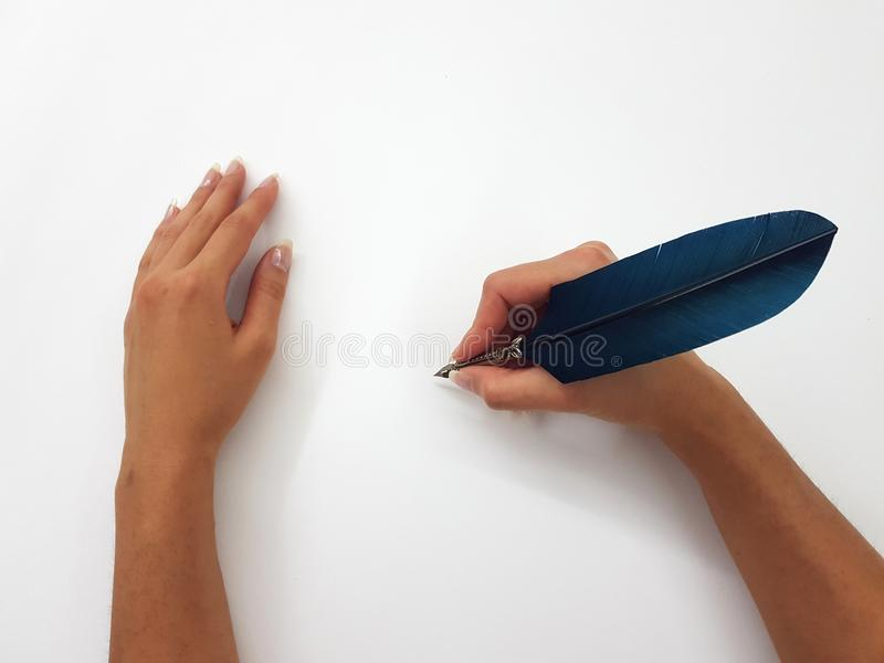 Retro feather pen stock photo. Image of expensive, design - 102893682