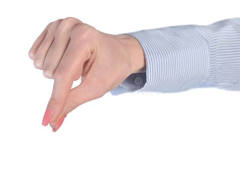 Woman hand grab stock photo