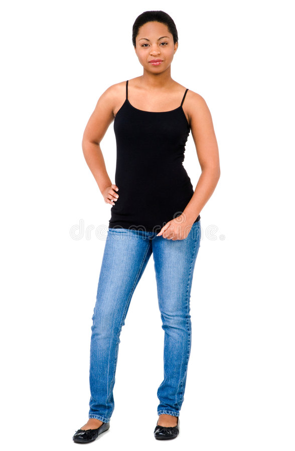 Woman With Hand On Hip royalty free stock images