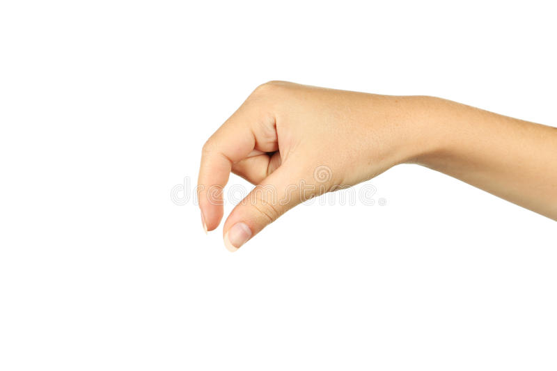 Woman Hand Hold Virtual Business Card Stock Image Image of