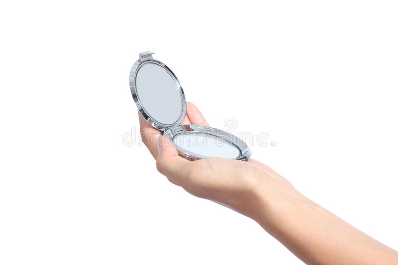 Download Woman Hand Holding A Hand Mirror Stock Photo - Image: 32557308