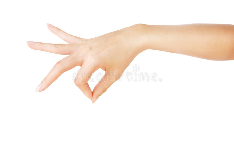 Woman hand holding something stock photography