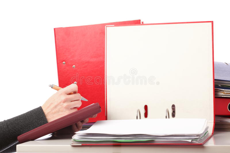 Woman hand pen - Isolated stock photo