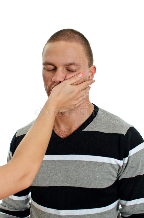 Download Woman Hand Slapping Man's Face. Stock Photo - Image of pain, domestic: 25686354