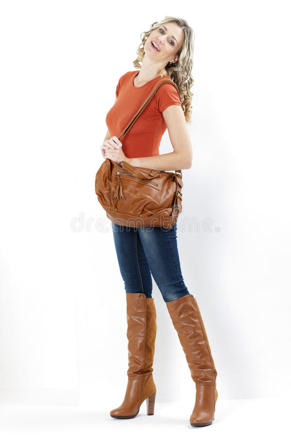 Download Woman With A Handbag Stock Photo - Image: 27009870
