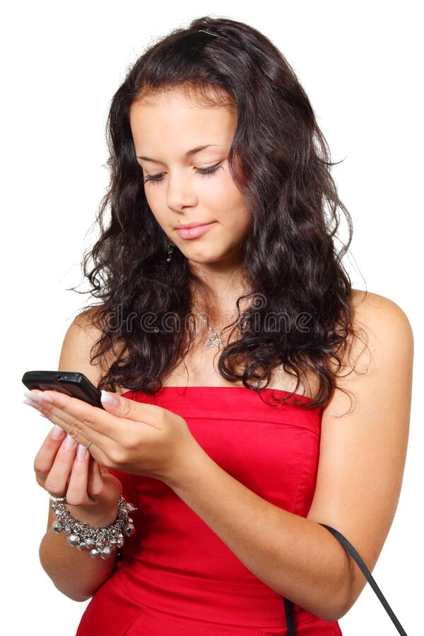 Woman With Handbag On Arm While Using Android Smartphone Free Public Domain Cc0 Image