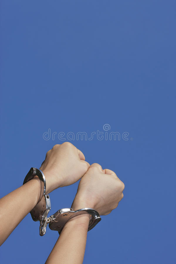 Download Woman with handcuffs stock image. Image of determination - 26589055