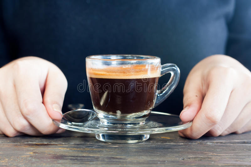 woman handing coffee cup royalty free stock photos