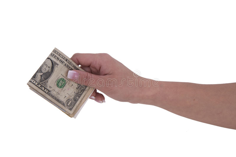 Woman hands with dollar stock photography