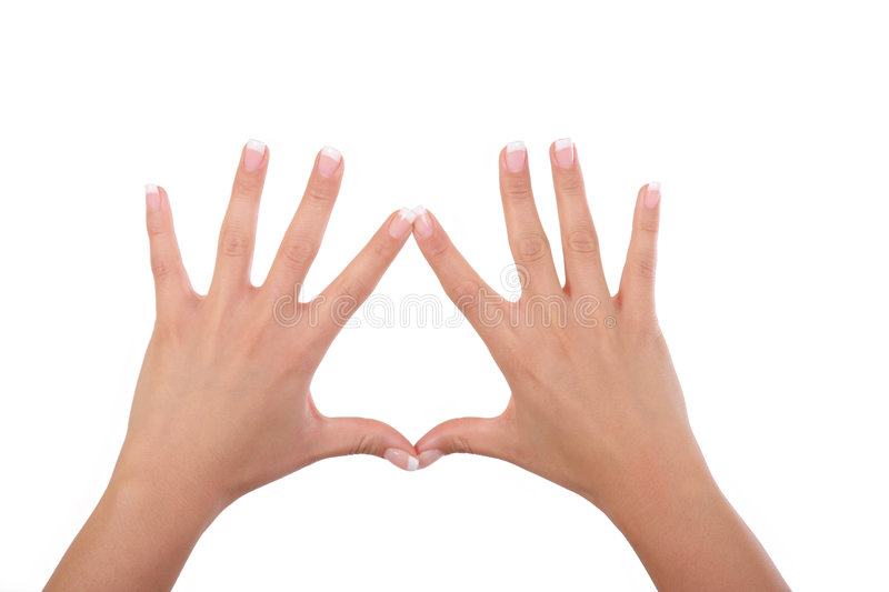 Woman hands and fingers stock photo