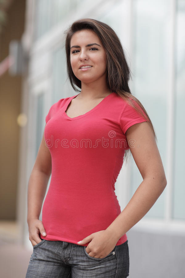 Download Woman With Hands In Her Pockets Stock Image - Image: 17307551