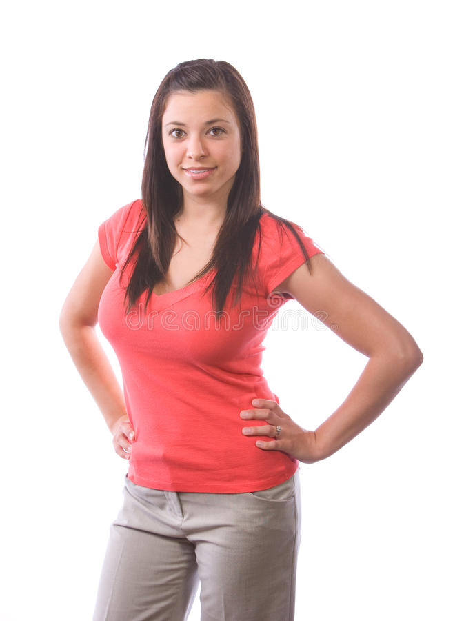 Download Woman hands on hips stock image. Image of girl, beauty - 9512091