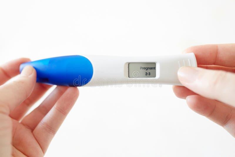 Positive Digital Pregnancy Test Stock Image - Image of ...