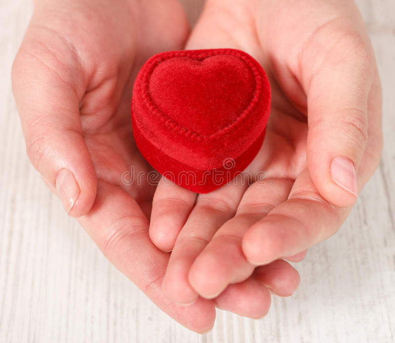 Download Woman Hands Holding Red Jewelry Box Stock Image - Image: 28405329