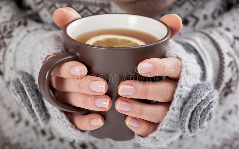 Download Woman hands with hot drink stock photo. Image of christmas - 36932766