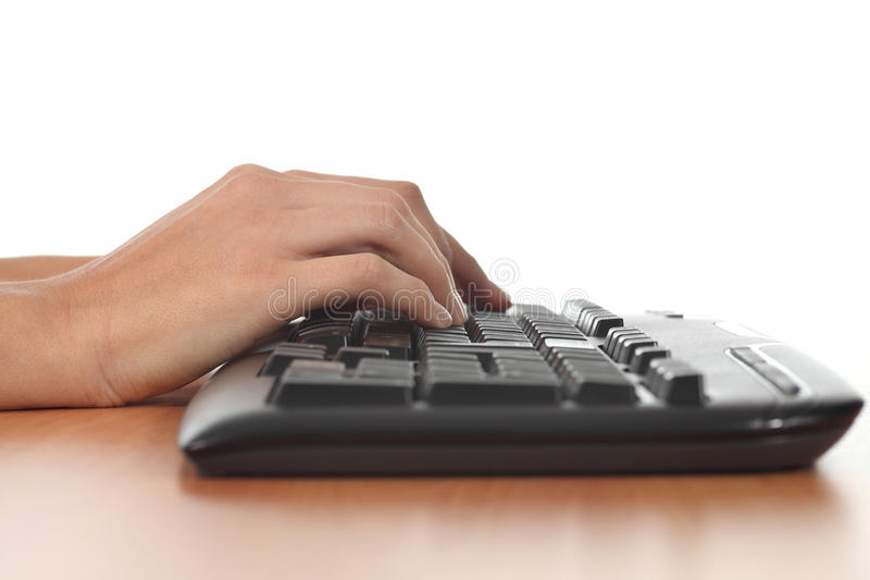 Download Woman hands on a keyboard stock image. Image of computer - 28082739
