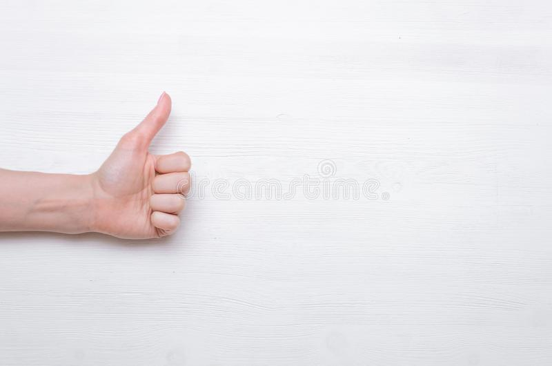 Thumbs up. royalty free stock photography