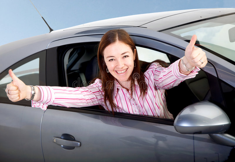 Download Woman Happy With Her New Car Stock Image - Image of cellphone, female: 4042163