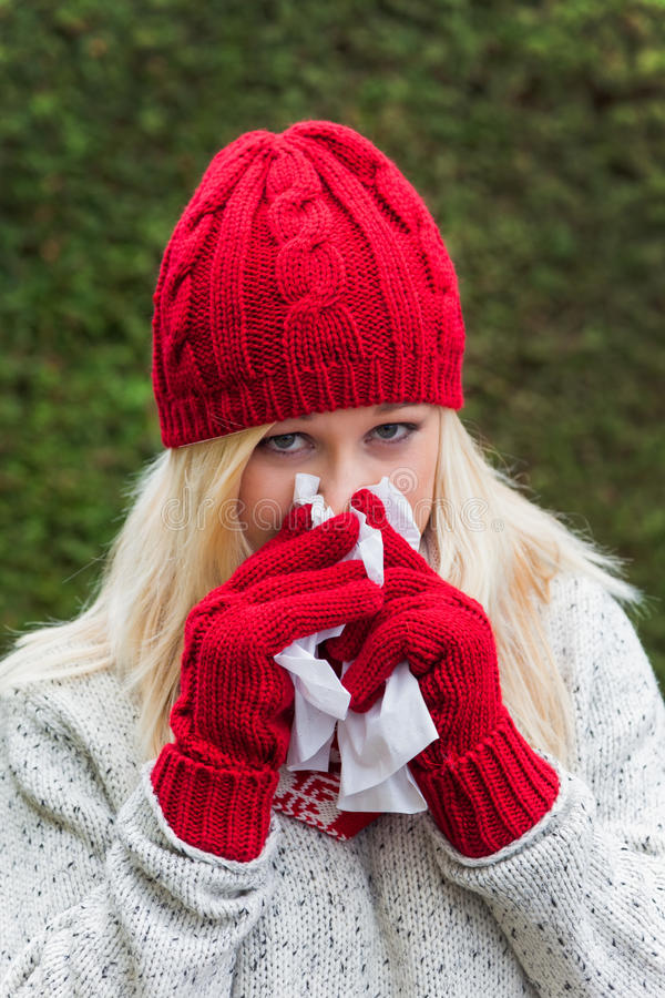 Download Woman Has A Cold And Has A Cold Stock Image - Image: 27826241