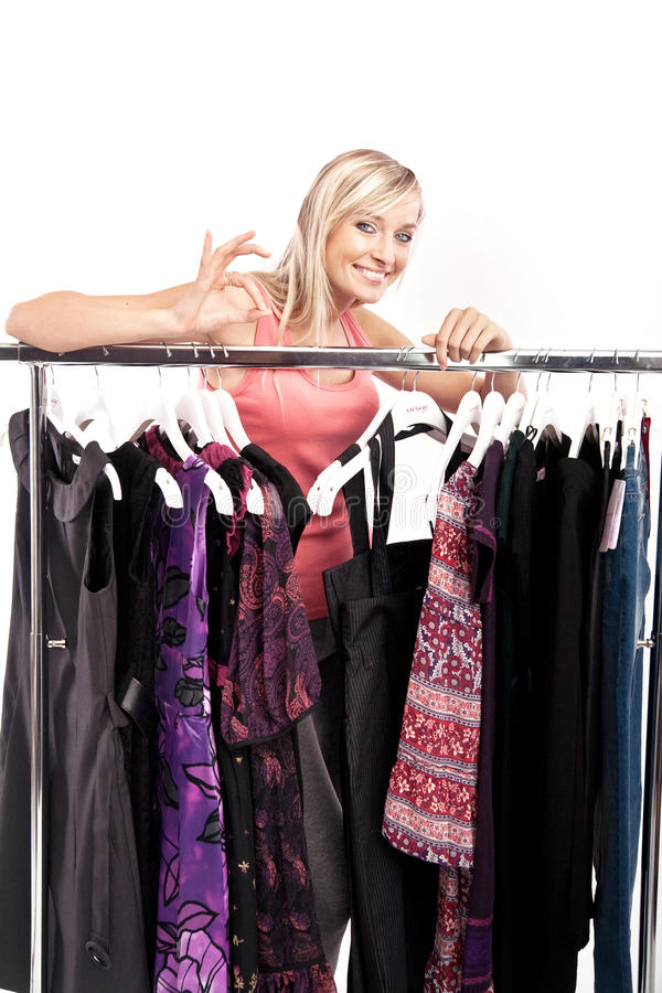 Download Woman Has A Plenty Of Clothes To Choose From Stock Image - Image of choice, girl: 10420811
