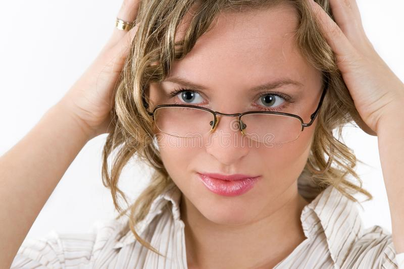 Woman has problem royalty free stock image