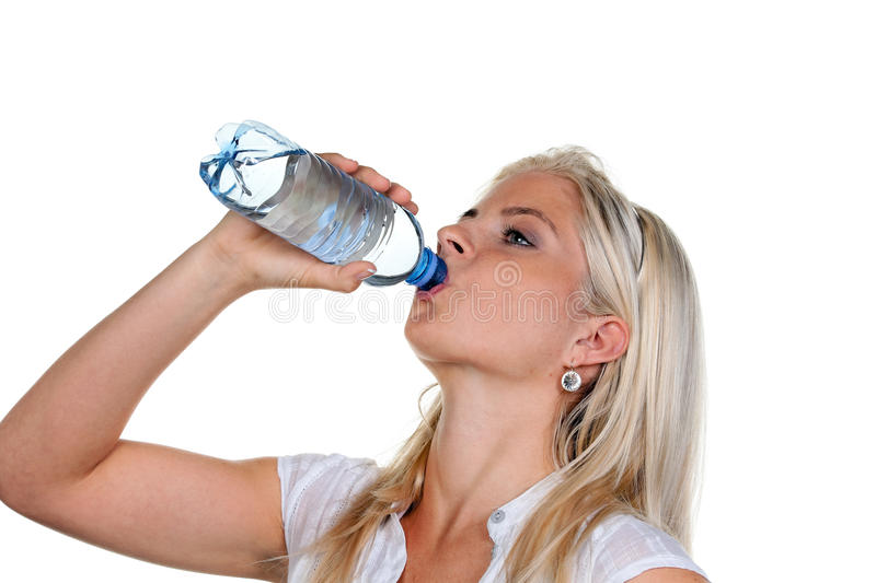 Download Woman Has A Thirst And Drinking Mineral Water Stock Photo - Image: 9720652