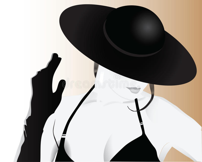 Woman in a Hat royalty free illustration