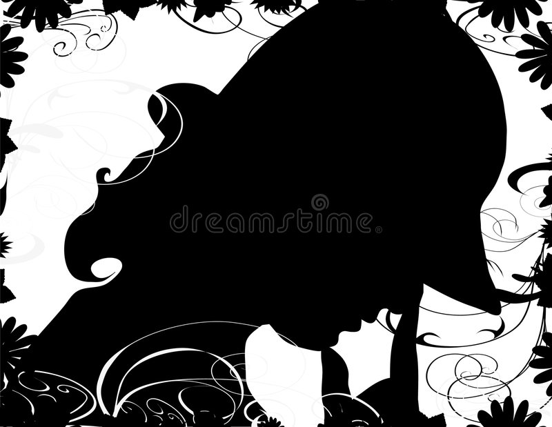 Woman with hat vector illustration