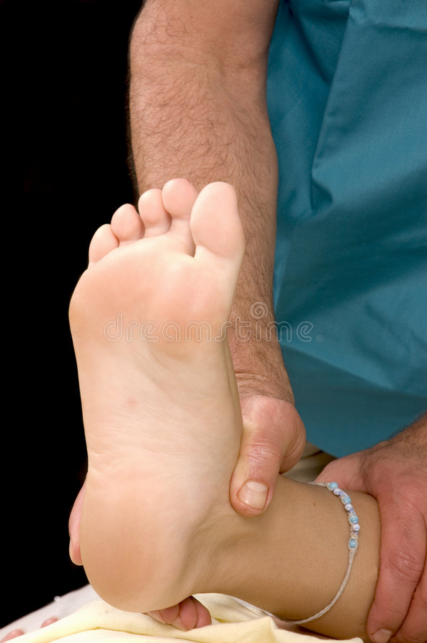 Download Woman having Ankle Massage stock photo. Image of relax - 5852710