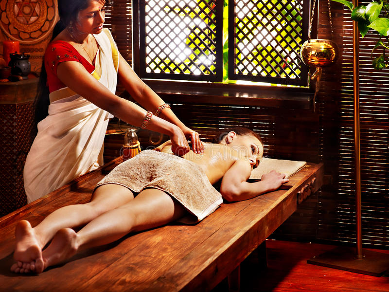 Download Woman Having Ayurvedic Spa Treatment. Stock Photography - Image: 30465492