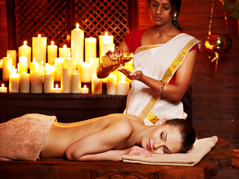 Woman Having Ayurvedic Spa Treatment. Stock Photography