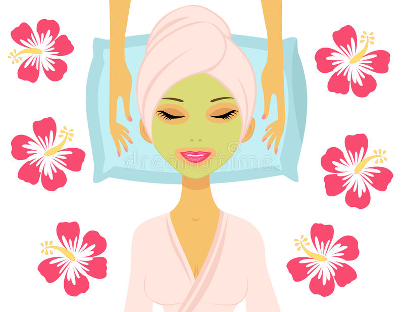 Download Woman Having Beauty Treatment Stock Illustration - Illustration of wrap, elegance: 25029720
