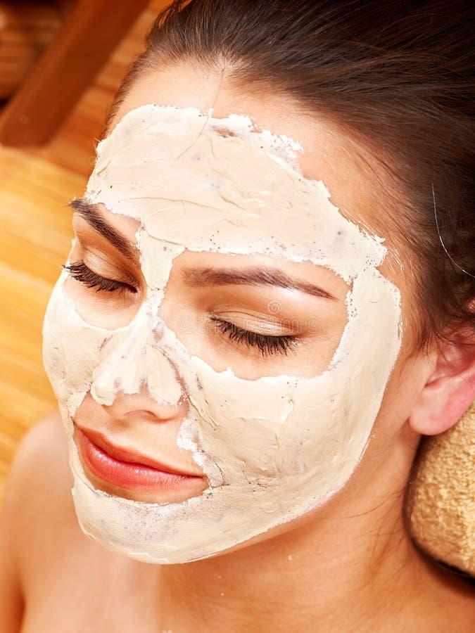 Download Woman  Having Clay Facial Mask. Royalty Free Stock Photo - Image: 21842195
