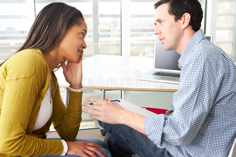 Woman Having Counselling Session royalty free stock photos