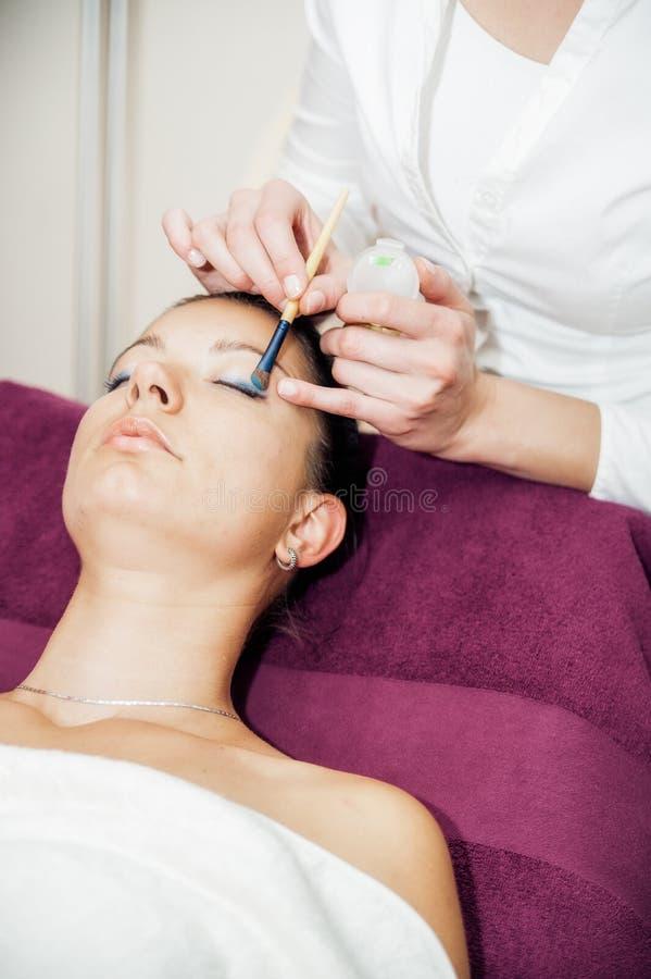 Download Woman Having Makeup Applied Stock Image - Image: 25175479