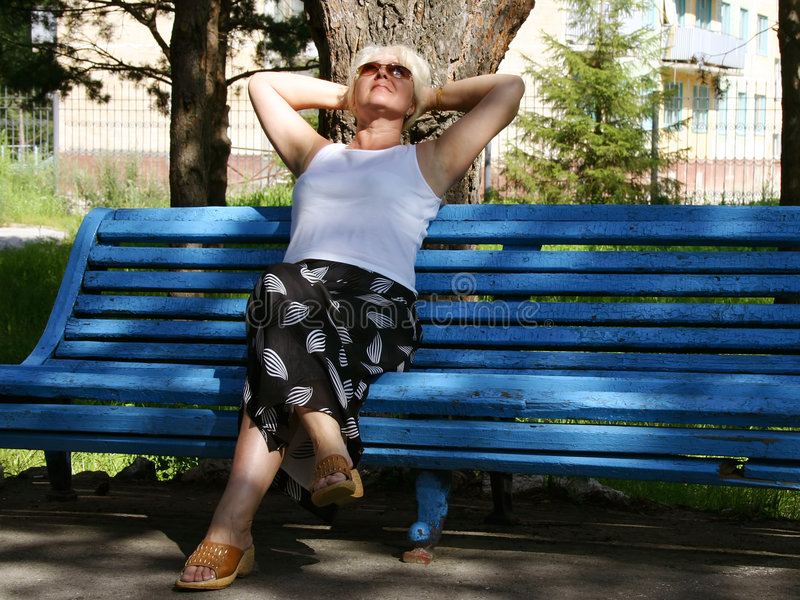 Download The woman having a rest stock image. Image of harmony - 3839615