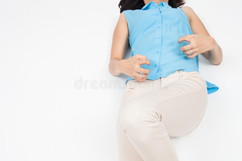 Woman is having a seizure. A woman is having a seizure stock images