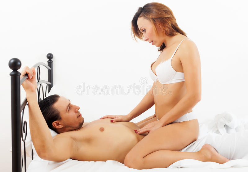 Lady having sex with man
