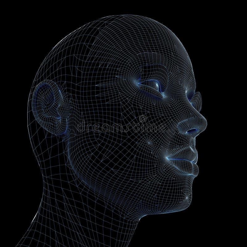 Woman head stock illustration